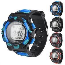 Fashion Men's Boy Waterproof LCD Digital Stopwatch Date Rubber Sport Wrist Watch