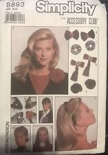 Simplicity Accessory Club pattern 8893 Flower & Ribbon Accessories  uncut