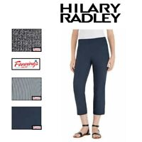 SALE! Hilary Radley Ladies Pull On Capri Comfort Fit Stretch Pant VARIETY! F14