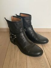 Frye Phillip Harness Back Zip Bootie Ankle  Short Boots Size 9 Women