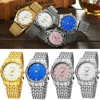 Fashion Women Girl Bracelet Stainless Steel Round Dial Analog Quartz Wrist Watch