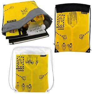 BAG TO LIFE Sky Gym Bag Turnbeutel Rucksack UNIKAT Upcycling einer Rettungsweste