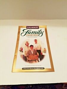 Longaberger FAMILY TRADITIONS MAY 1-JUNE 30, 1995 FLYER/ CATALOGUE-FREE SHIPPING
