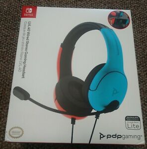 NEW NIB NINTENDO SWITCH LITE LVL 40 WIRED STEREO GAMING HEADSET  PDP GAMING
