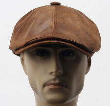 Faux Leather Cabbie Gatsby Flat Golf Hat Newsboy