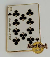 Hard Rock Cafe Cleveland 10 of Clubs playing card HRC  pin LE Ten