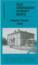 OLD ORDNANCE SURVEY MAP MANCHESTER NEWTON HEATH 1889 COLOURED EDITION