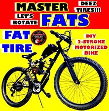 New 2019 Master Fat Tire 80Cc Gas Motor Motorized Engine & 26 Bike Scooter Moped
