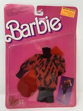 Barbie SweaterSoft Fashions Red Sweater Dress 1987 Mattel No. 4478 NRFP