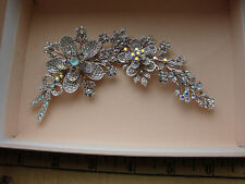 Kirks  Folly Large Two Piece Flower Brooch/Pin Beautiful Silver Tone