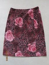 Geblümte Damenröcke im A-Linien-Stil aus Baumwollmischung für die Freizeit