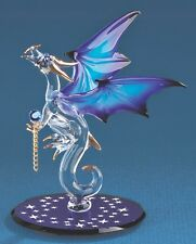Glass Baron ~ Dragon with Stars ~ Blue Crystal Eyes & 22kt gold accents ~ NIB