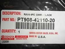 2007-2012 Toyota Rav4 BLACK All-Weather Floor Mats 4 PC PT908-42110-20 NEW OEM