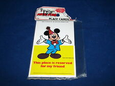 VTG Walt Disney Mickey Mouse Birthday Party Place Cards Favors MIP Carrousel