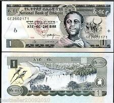ETHIOPIA 1 BIRR UNC NOTE FROM BANK PACK # 260