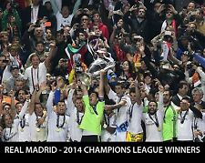 REAL MADRID 2014 European Cup Champions - 8x10 Photo