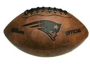 New England Patriots NFL Football Vintage Throwback - 9 Inches