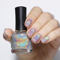 BORN PRETTY 6ml Light Sensitive Holo Nail Polish Shimmer Glitter Art Varnish