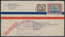 #571 & #C11 ON ZEPPELIN FIRST FLIGHT AIRMAIL COVER USA TO GERMANY BT7894