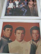 Star Trek Framed 8x10 promo photo Bundle job Lot Motion picture cast crew kirk