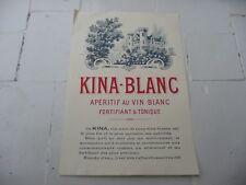étiquette ancienne QUINA-BLANC au vin blanc