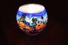 Leuchtglas Windlicht Winternight Geschenk Dekolicht Tischlicht Teelicht