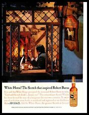 1961 The White Horse Cellar Scotch Whisky Window Fireplace Vintage Print Ad