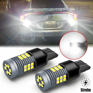 LED 7440 7443 Strobe Blinking Flashing Backup Reverse Light Bulb for Honda Acura