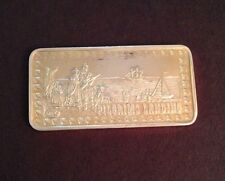 PILGRIMS LANDING 1 Troy Ounce .999 Fine Silver Bar THE HAMILTON MINT