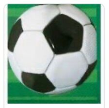 16 x Soccer Football Theme Party Napkins Boys Birthday Party Tableware Supplies