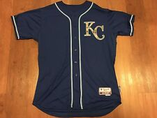AUTHENTIC GAME READY ISSUED NON USED ROYALS MILITARY JERSEY NO NAME SIZE 50