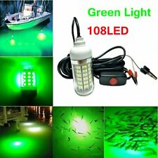 12V Green Led Underwater Submersible Fishing Light Night Crappie Shad Squid Lamp