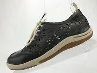Jambu Eco Design Shoes Black Leather Lace Up Sneaker Casual Womens Size 6.5 M US
