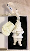 Pandora 2013 Porcelain Santa Claus Christmas Tree Ornament w/ Orig Box & Pouch