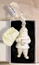 Pandora 2013 Porcelain Santa Claus Christmas Tree Ornament w/ Orig Box & Pouch