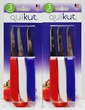 6x Quikut Paring Knives Knife Stainless Steel New Sealed Made In Usa