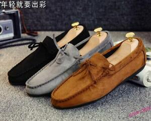 Men's Tassel Casual Shoes Moccasins Slip On Hairstylist Comfort Gommino Oversize