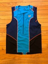 Pearl Izumi Men's Select Pursuit Tri Sl Jersey Black/Blue Medium
