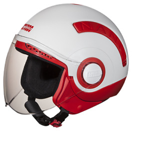 New STUDDS Nano 560 Open Face Helmet Red White Color - Small size