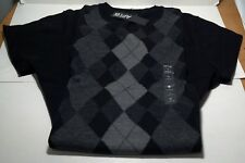"Apt. 9 Mens Long sleeve Sweater Argyle ""Black Tie"" style size small  V neck NEW"