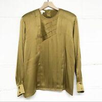 Vintage Escada 100% Silk Blouse size 42