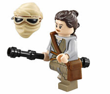 LEGO STAR WARS THE FORCE AWAKENS MINIFIGURE REY WITH STAFF AND HELMET 75099