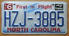 North Carolina 1996 FIRST IN FLIGHT GRAPHIC License Plate HIGH QUALITY #HZJ-3885