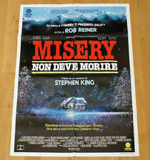 MISERY NON DEVE MORIRE poster manifesto Stephen King Lauren Bacall James Caan
