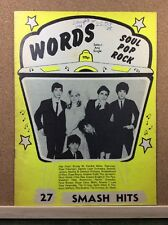 WORDS - Songwords Music Magazine - 27smash hits - 1978 - Blondie, Suzi Quatro