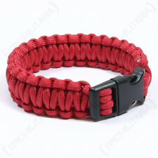 Red PARACORD WRISTBAND Survival Camping Hiking Cord Bracelet - All Sizes