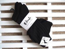 3 x Mens PRINGLE Black Rib Cotton Rich Socks UK foot 7-11 Eu 40-46 New