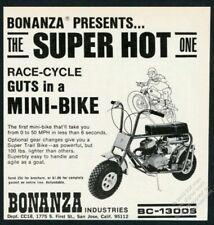 1968 Bonanza mini bike minibike BC-1300S motorcycle photo vintage print ad