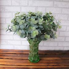 Artificial Fake Leaf Eucalyptus Green Plant Leaves Flowers Home Garden Decor US