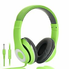 AUSDOM® Lightweght wire Over Ear HD stereo headset leather ear cupsIn line Mic